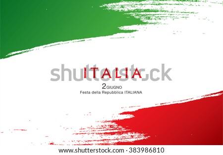 Italian translation of the inscription: Italy. Second of June. Italian Republic Holiday - stock vector