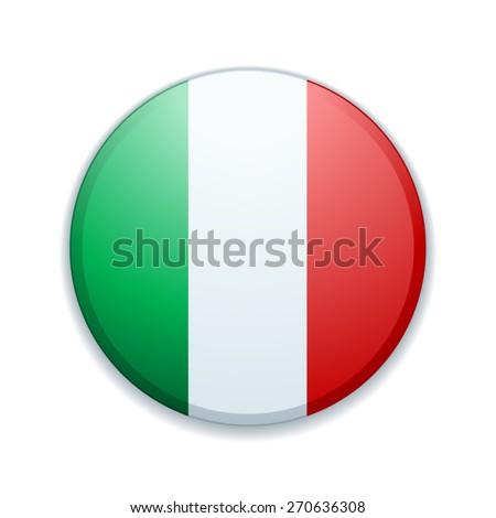 Italy button - stock vector