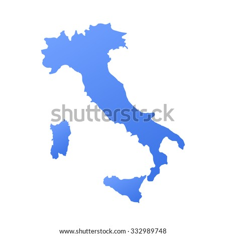 Italy country map,border