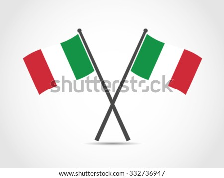 Italy Crossed Flag