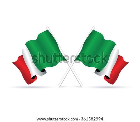 italy flag - stock vector