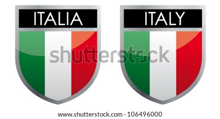 Italy - flag emblem - stock vector