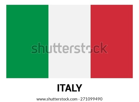 Italy Flag isolated vector in official colors and Proportion Correctly - stock vector