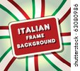italy frame flag vector illustration background. tamaravector collection - stock vector