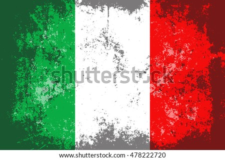 Italy grunge,scratch,old style flag