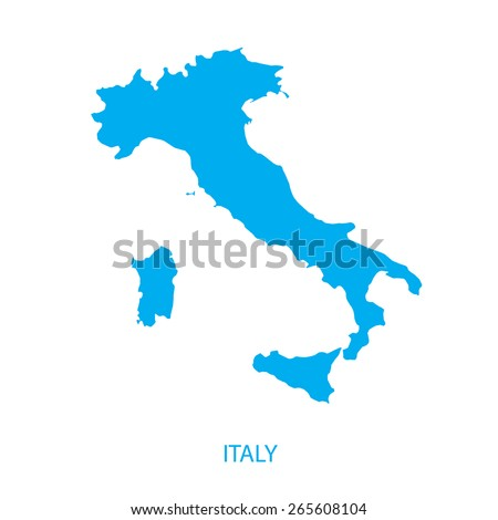 Italy map - stock vector