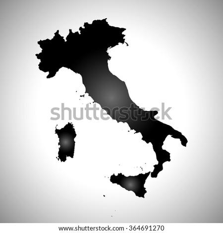 Italy - map - stock vector