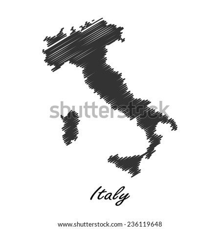 Italy map icon for your design, concept Illustration. - stock vector