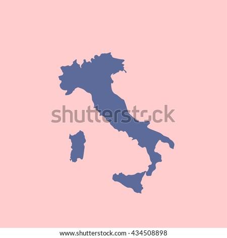 Italy map vector - stock vector