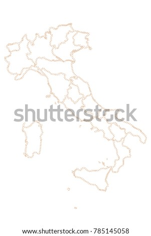 Italy map. Vector Illustration