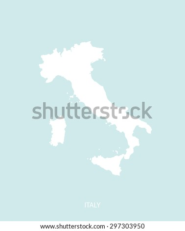 Italy map vector in a faded background, Italy map outlines for publication, science, and web-page template uses  - stock vector