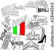 Italy Set - stock vector