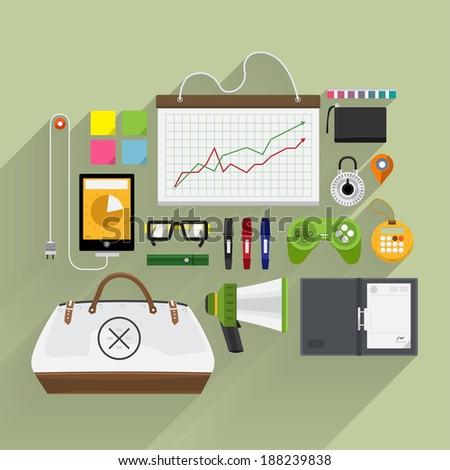 Item lifestyle for digital marketing talk  icon - stock vector