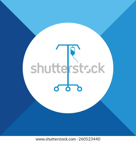 IV Stand Icon on Blue Background. Eps-10. - stock vector