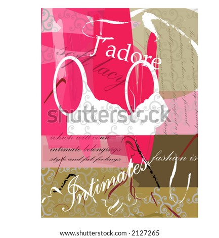 J'adore series  - intimates - stock vector