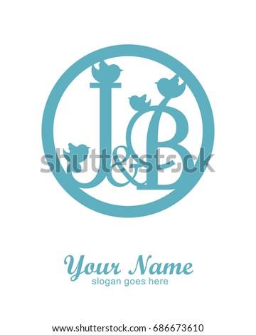 J b initial wedding decorative logo stock photo photo vector j b initial wedding decorative logo template junglespirit Choice Image