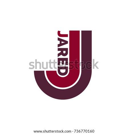 stock-vector-j-letter-logo-jared-name-73