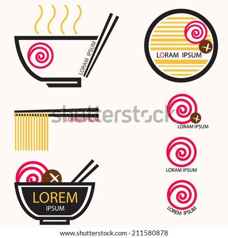 J Noodle - stock vector
