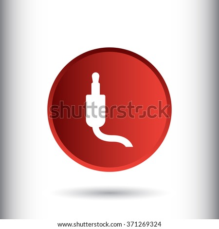 Jack audio cable icon - stock vector