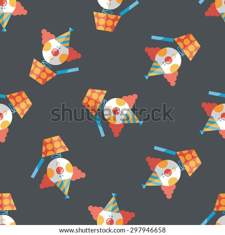 Jack in the box flat icon,eps10 seamless pattern background - stock vector