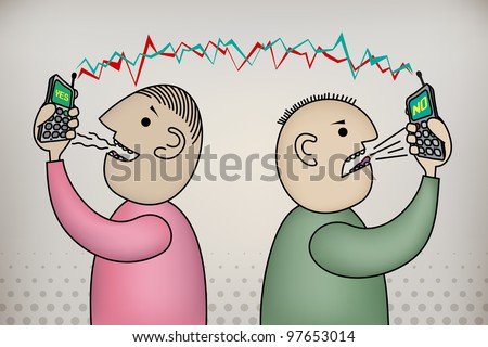 Jack & Joe - Communication problem - stock vector