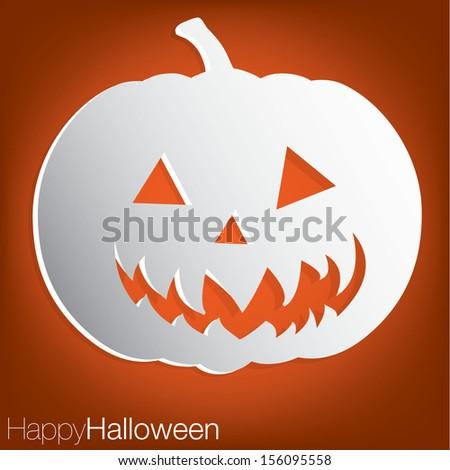 Jack o' Lantern concave Halloween card in vector format. - stock vector