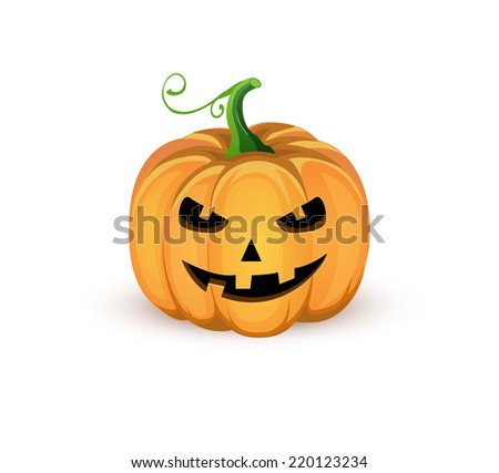 Jack o'lantern Halloween illustration - stock vector