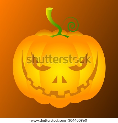 Jack O Lantern pumpkin face illustration
