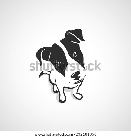 jack russell terrier vector illustration stock vector 232181356 shutterstock. Black Bedroom Furniture Sets. Home Design Ideas