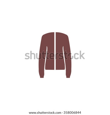 Jacket. Colorful vector icon. Simple retro color modern illustration pictogram. Collection concept symbol for infographic project and logo - stock vector