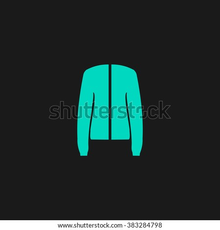 Jacket. Flat simple modern illustration pictogram. Collection concept symbol for infographic project and logo - stock vector