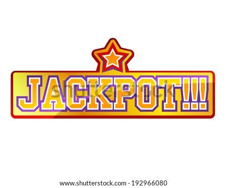 Jackpot Sign - stock vector