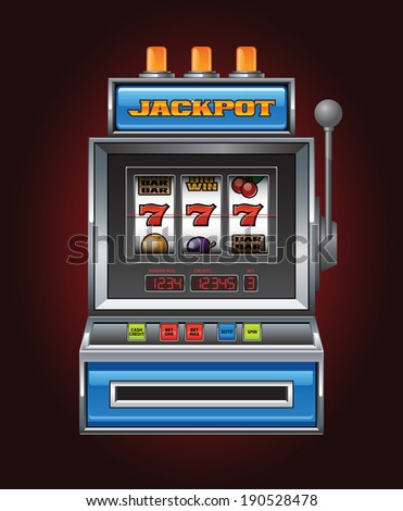 Jackpot Slot Machine - stock vector