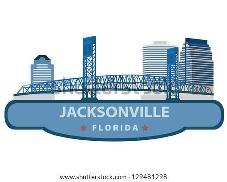 Jacksonville. Symbol city - stock vector