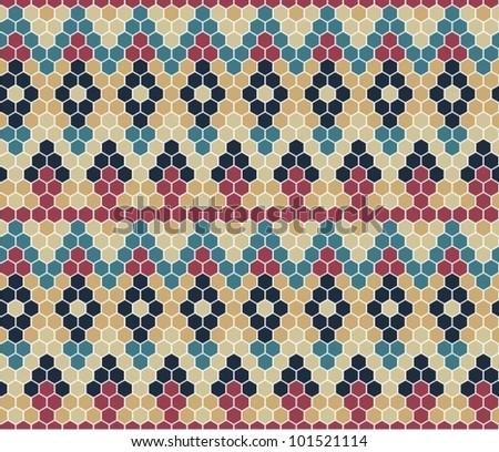 Jacquard Knit Pattern - stock vector