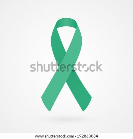 Jade awareness ribbon - stock vector