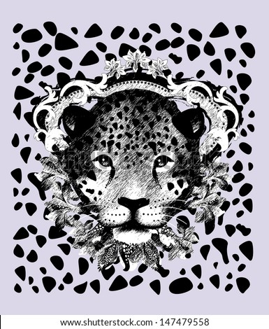 Jaguar-Pencil sketch - stock vector