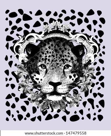 Jaguar-Pencil sketch - stock vector