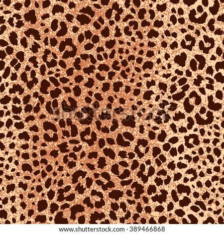Jaguar Skin Seamless Pattern. Animal Print for Textile Design / Vector Illustration - stock vector