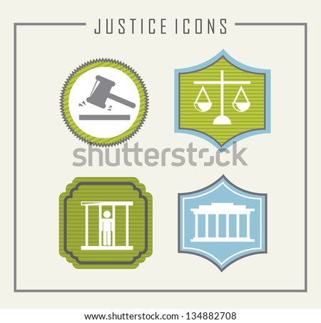 jail icons over beige background. vector illustration - stock vector