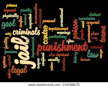 Jail. Tag cloud - stock vector