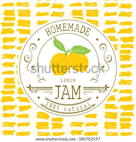 Homemade jam stock images royalty free images vectors for Jelly jar label template