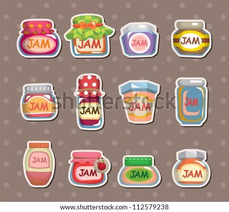 jam stickers - stock vector