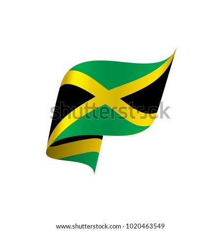 Jamaica Flag Vector Illustration Vector de stock1020463549: Shutterstock