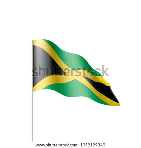 Jamaica Flag Vector Illustration Vector de stock1059199340: Shutterstock