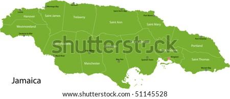 Jamaica Map Stock Images RoyaltyFree Images Vectors Shutterstock - Jamaica cities map