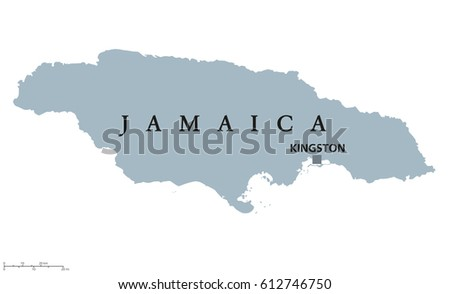 Jamaica Political Map Capital Kingston Country Stock Vector - Political map of jamaica