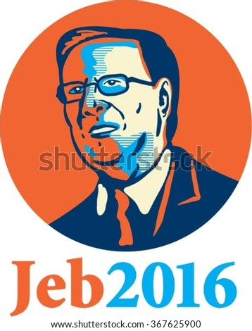 """Jan. 26, 2016: Caricature vector illustration showing Bernard """"Bernie"""" Sanders, American Senator, elected politician and Democrat presidential candidate standing and words Bernie 2016 done caricature style. - stock vector"""