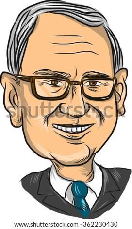 "Jan. 14, 2016: Vector illustration of  Bernard ""Bernie"" Sanders, American Senator, elected politician and Democrat presidential candidate on isolated background. - stock vector"