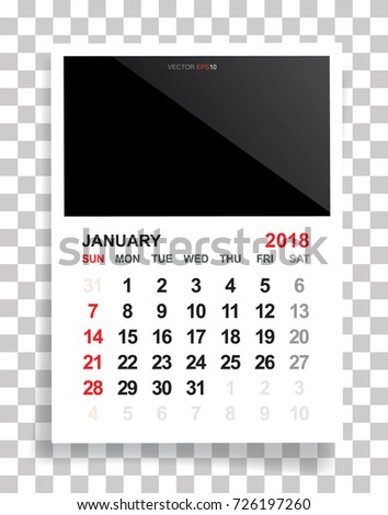 March 2018 Calendar Background Empty Photo Stock Vector 726197209 ...